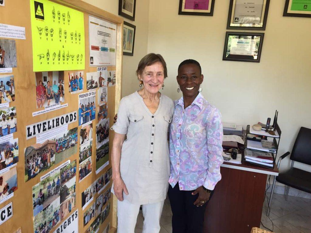 Maria and Nassozi from DLU, Deaf Link Uganda